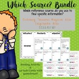 Reference Sources Game & Sorting Activity Bundle