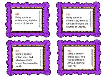 Reference Books Task Cards Bundle