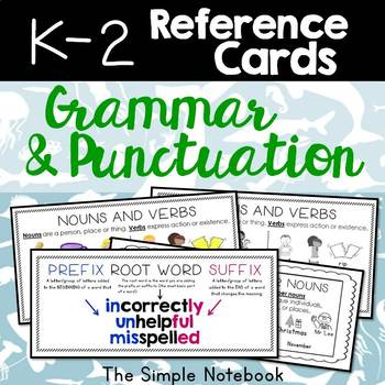Reference Cards: K-2 Grammar & Punctuation
