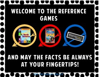 Reference Games Poster Set for Library/Media Centers
