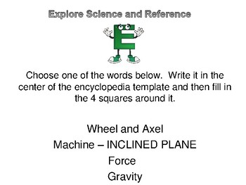 Reference Library Center: Simple Machines and the Encyclopedia