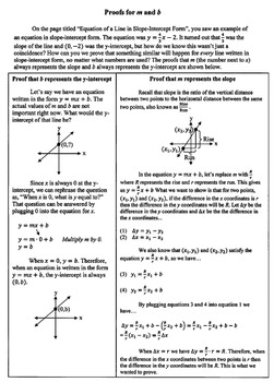 Reference - Linear Relationships, Slope, Y-intercept, Equations, Graphs