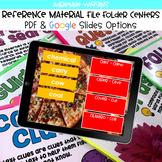 Reference Material File Folder Centers BUNDLE (Google Clas