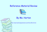 Reference Material SmartBoard Review with Activities