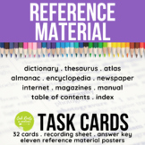 Reference Material Task Cards