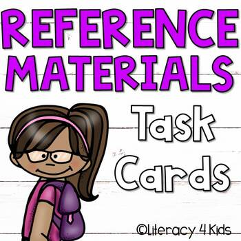 Reference Materials Task Cards Set #2