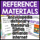 Reference Materials: Almanac, Encyclopedia, Thesaurus, Dictionary, and Atlas