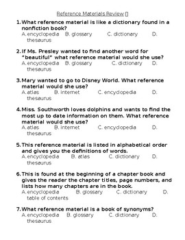 Reference Materials Assessment