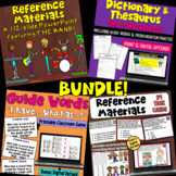 Reference Materials BUNDLE (Dictionary, Thesaurus, Encyclopedia, Atlas, Almanac)