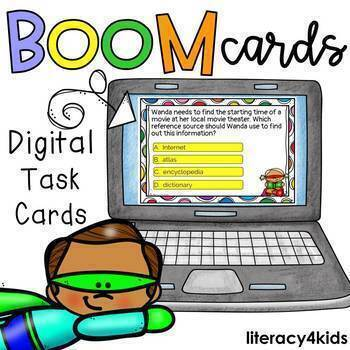 Reference Materials Boom Cards (Digital Task Cards)