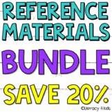 Reference Materials BUNDLE (PowerPoint, Posters, Boom Cards, and Task Cards)