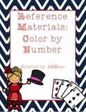 Reference Materials Color by Number