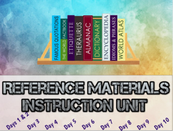 Reference Materials Complete Language Arts Unit:  PowerPoint