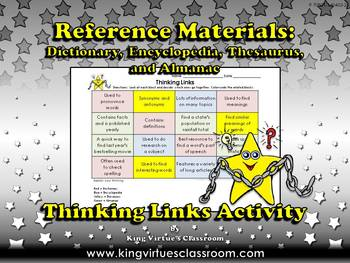 Reference Materials: Dictionary Encyclopedia Thesaurus Almanac Thinking Links
