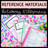 Reference Materials: Dictionary Skills and Thesaurus Skills