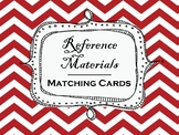 Reference Materials (Dictionary, Thesaurus, Atlas, etc.) Matching Cards Review