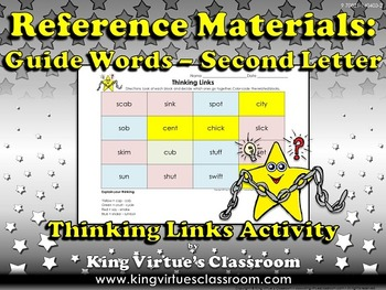 Reference Materials: Guide Words (ABC Order) Thinking Links #2 - Second Letter