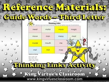Reference Materials: Guide Words (ABC Order) Thinking Links #3 - Third Letter