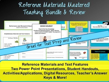 Reference Materials Mastered!  Using Reference Sources for