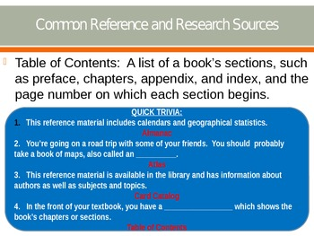 Reference Materials PPT