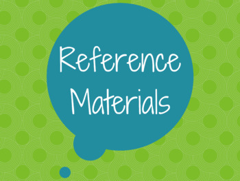 Reference Materials Poster