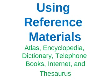 Reference Materials Power Point