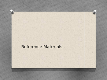 Reference Materials Powerpoint