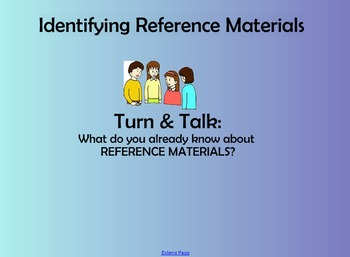 Reference Materials Smartboard