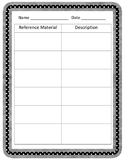 Reference Materials Sort