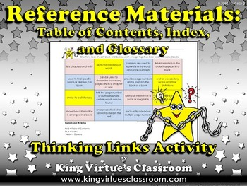 Reference Materials: Table of Contents, Glossary, and Index Thinking Links