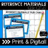 Reference Materials Task Cards   Print and Digital   Googl