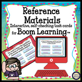 Reference Materials Task Cards - Boom Cards Interactive Ta