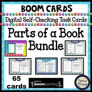 Parts of a Book - Boom Cards Interactive Task Cards