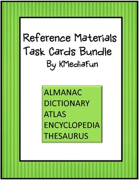 Reference Materials Task Cards Bundle by KMediaFun