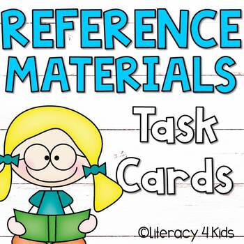 Reference Materials Task Cards Set #1