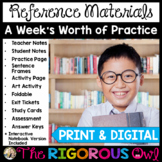 Reference Materials and Sources Week Long Lessons Bundle Common Core Aligned