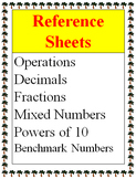 Reference - Operations, Decimals, Fractions, Mixed Numbers, Benchmark Numbers