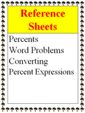 Reference - Percent Word Problems, Percent Expressions, Co
