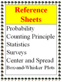 Reference - Probability, Statistics, Center and Spread, Su