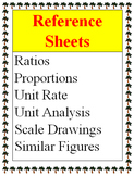 Reference - Ratios, Proportions, Unit Rate, Scale Drawings, Similar Figures