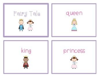 Spelling Cards for Writing: FAIRY TALES