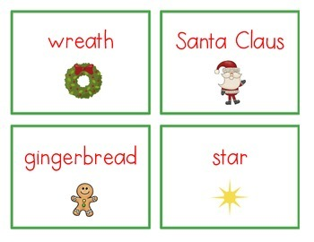 Spelling Cards for Writing: CHRISTMAS