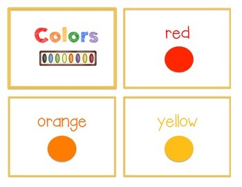 Reference Ring for Spelling: COLORS