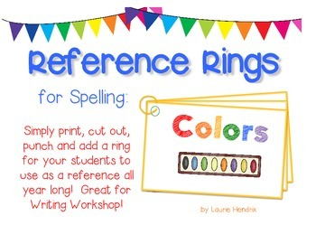 Spelling Cards for Writing: COLORS