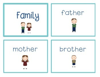 Spelling Cards for Writing: FAMILY