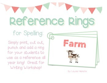 Spelling Cards for Writing: FARM
