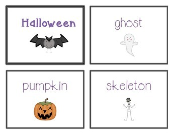 Spelling Cards for Writing: HALLOWEEN