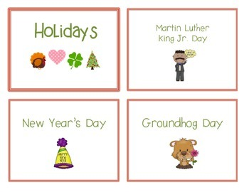 Reference Ring for Spelling: HOLIDAYS