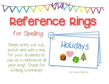 Spelling Cards for Writing: HOLIDAYS