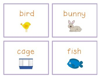 Spelling Cards for Writing: PETS